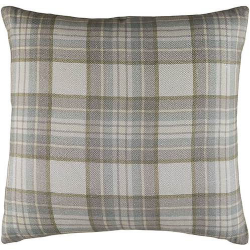 Plaid Pillow Cover Grey and Green