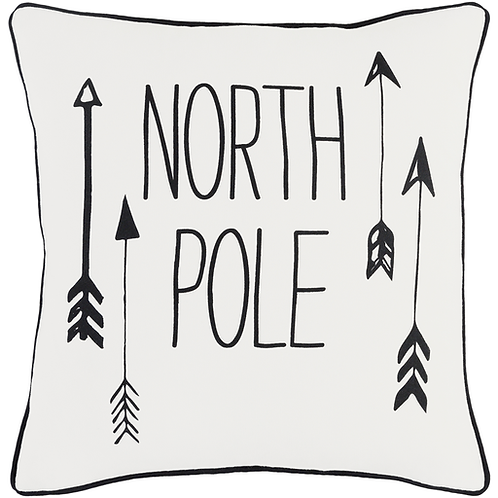 North Pole Arrow Pillow Cover