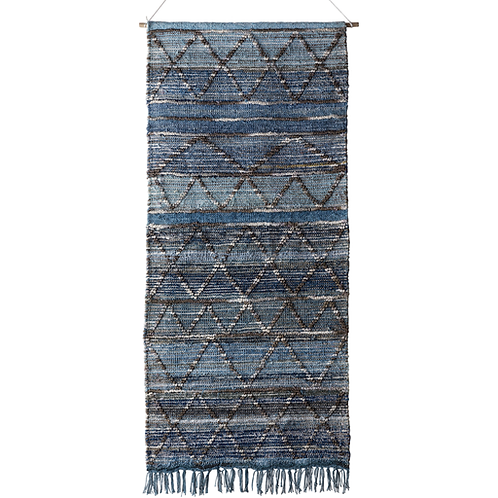 Blue Textured Pattern Wall Hanging