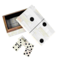 Domino Storage Box with Dominoes