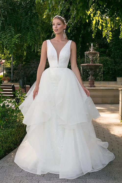 Angela Bianca 1032 removable overskirt