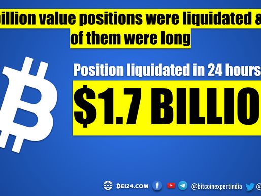 Crypto Market Crashed and $1.7 Billion Positions were Liquidated