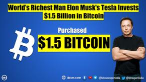 Elon Musk's Tesla Invests $1.5 Billion in Bitcoin