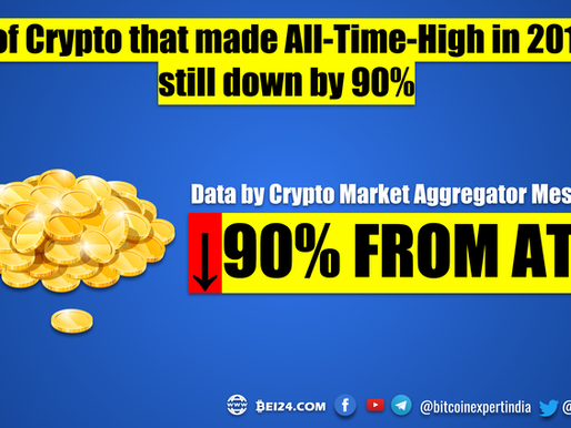 83% of Crypto that made All Time High in 2018 are still down by 90%