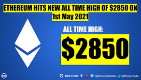 World's Second Largest Cryptocurrency Ethereum Hits New All Time High