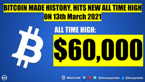 Bitcoin made History - Hits $60,000 for the First Time Ever
