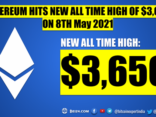 Unstoppable Ethereum Hits New All Time High of $3,650