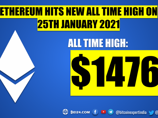 Ethereum Hits a New All Time High Again
