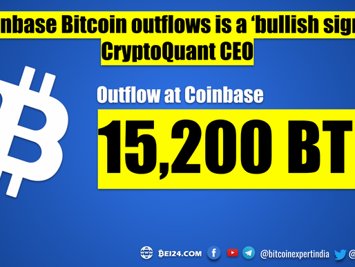 Coinbase Bitcoin outflows is a 'Bullish Signal' - CryptoQuant CEO