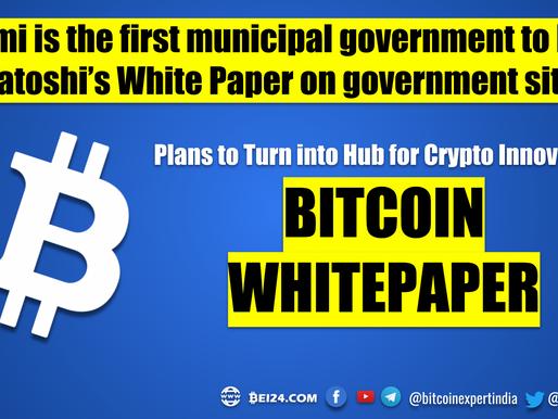 Bitcoin White Paper on USA Miami Government Website
