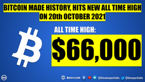 Bitcoin made History - Hits $66,000 for the First Time Ever