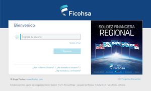 Link a sucursal electrónica de Ficohsa