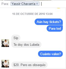 Chat con Yassir Chavarría