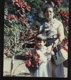 Con mi abuelita en Diriamba