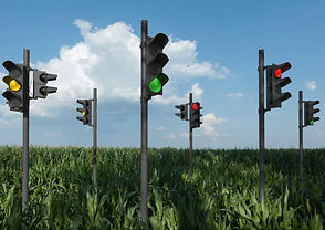 Traffic Lights in a field - Social Security Planning