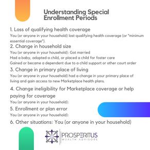 Understanding Special Enrollment Periods