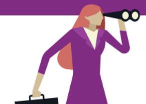 Cartoon Woman Searching - Debt Management