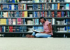 Woman in Library - Educational Planning