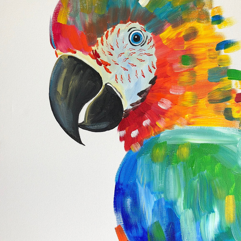 Paint & Sip (+ Bonus Skyline tickets available) - Playing with Parrots