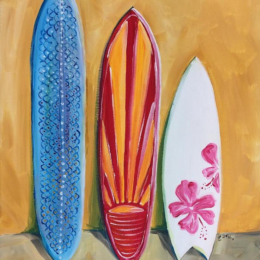 Surfboard Medley - Paint & Sip