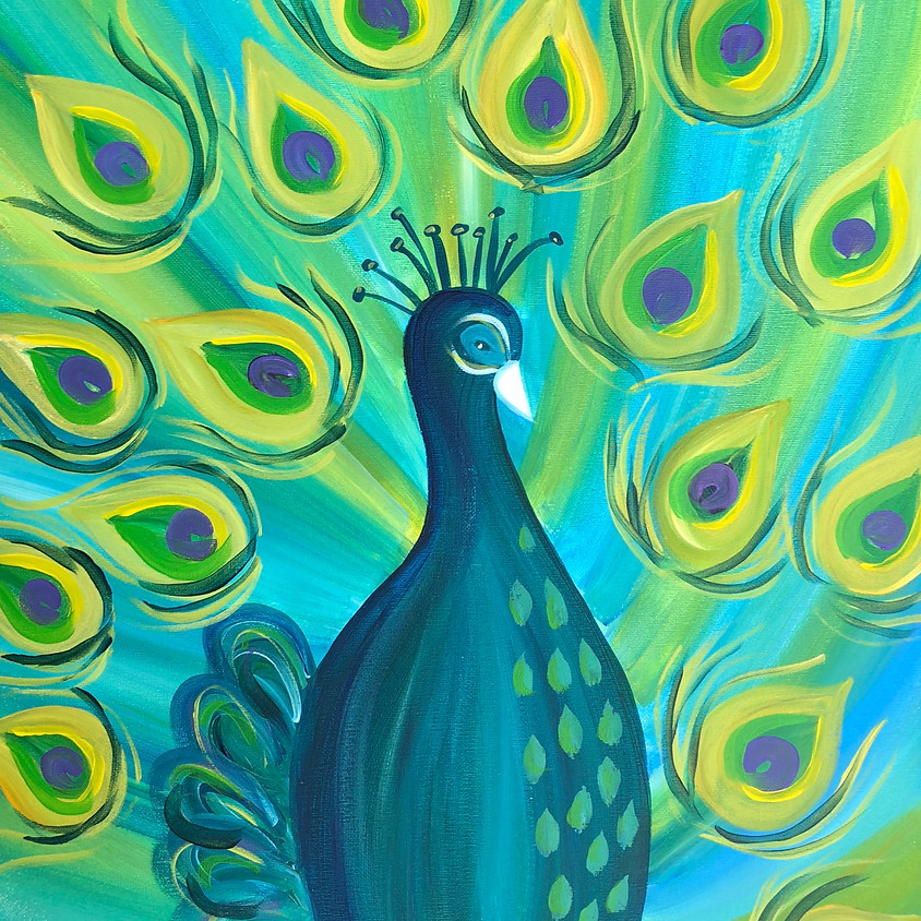 Peacock Proud - Paint & Sip