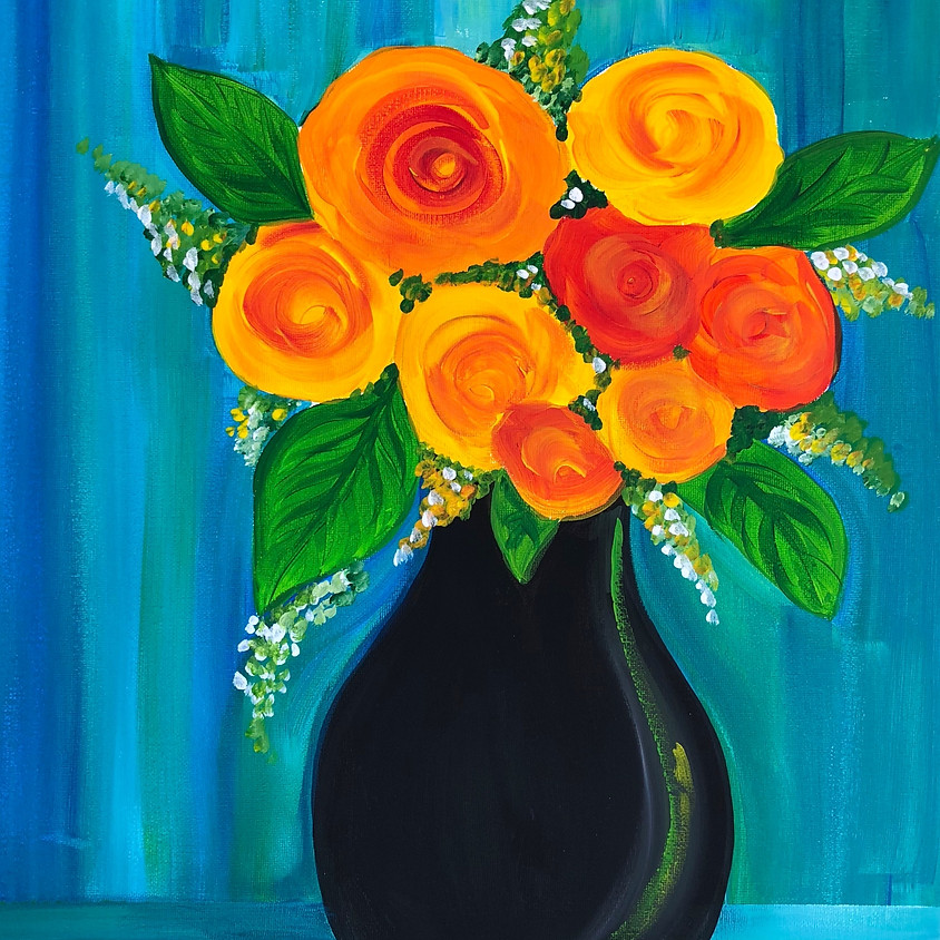 Colourful Blooms - Paint & Sip