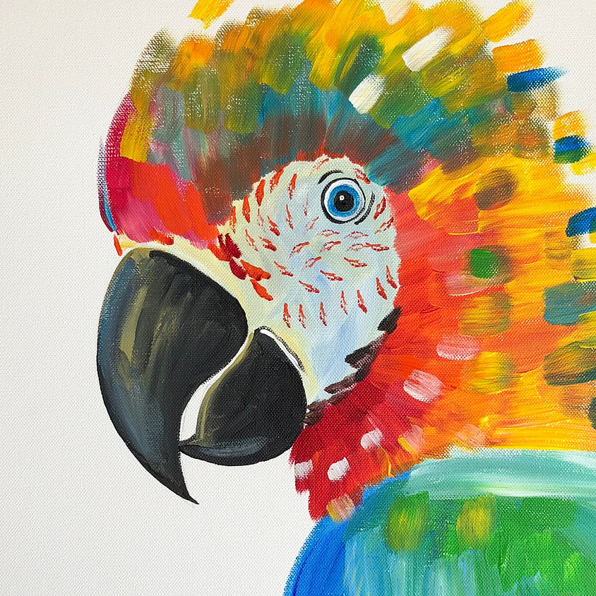 Playing with Parrots - Paint & Sip