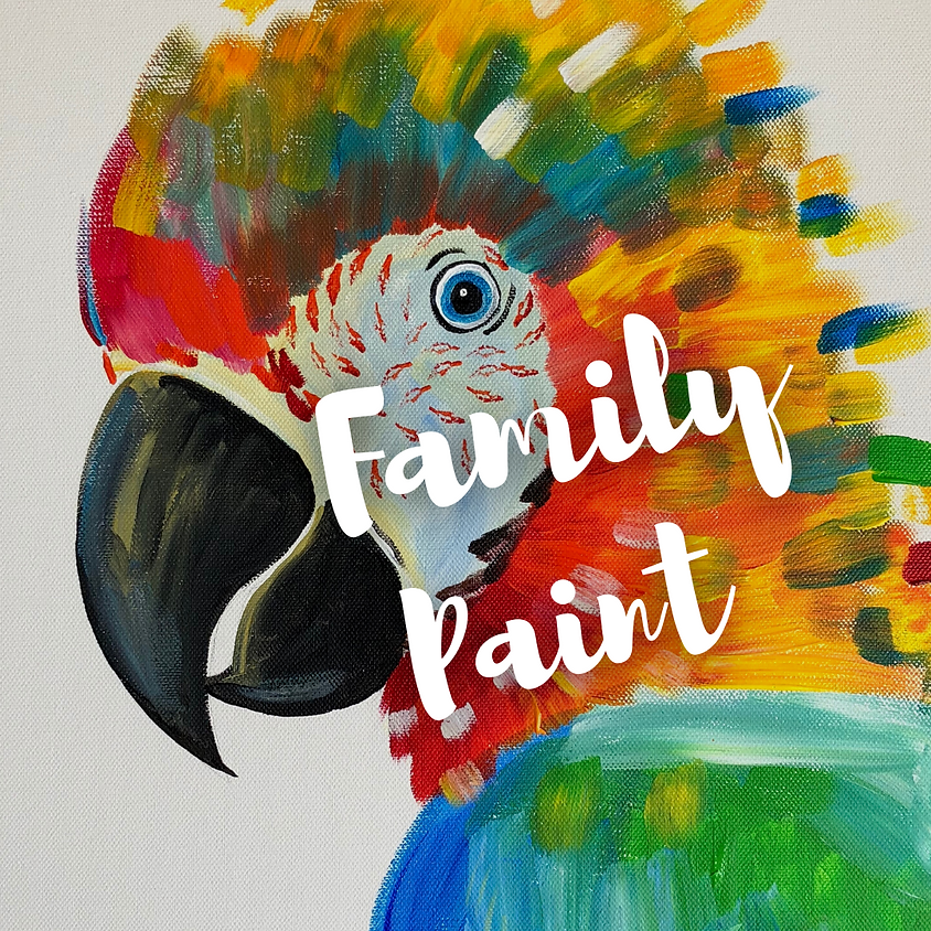 FAMILY PAINT - Playing with Parrots