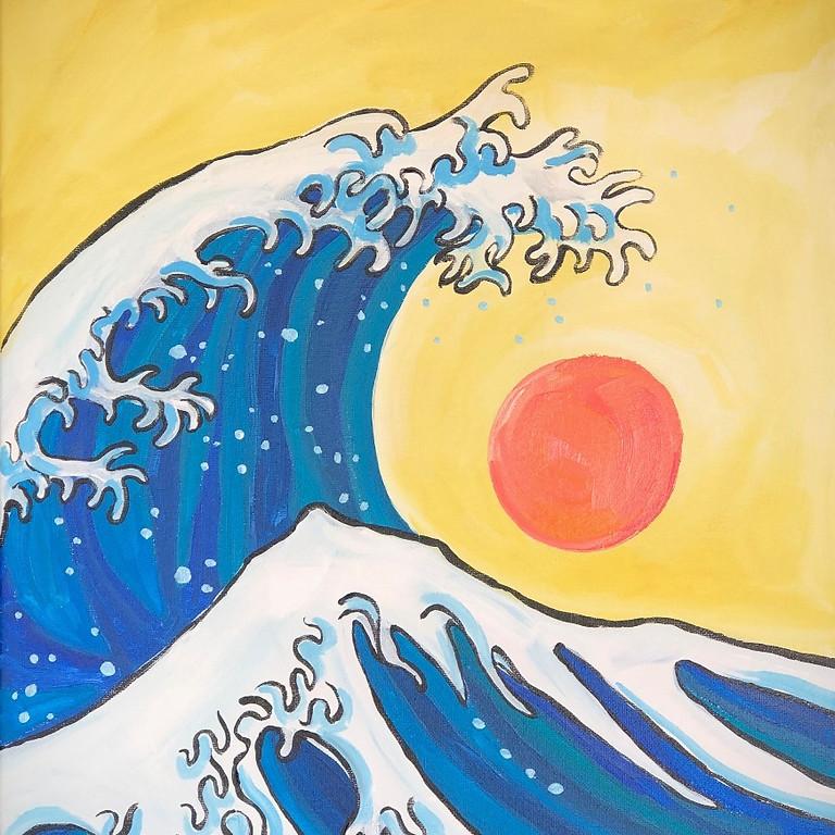 Hokusai's Wave - Paint & Sip