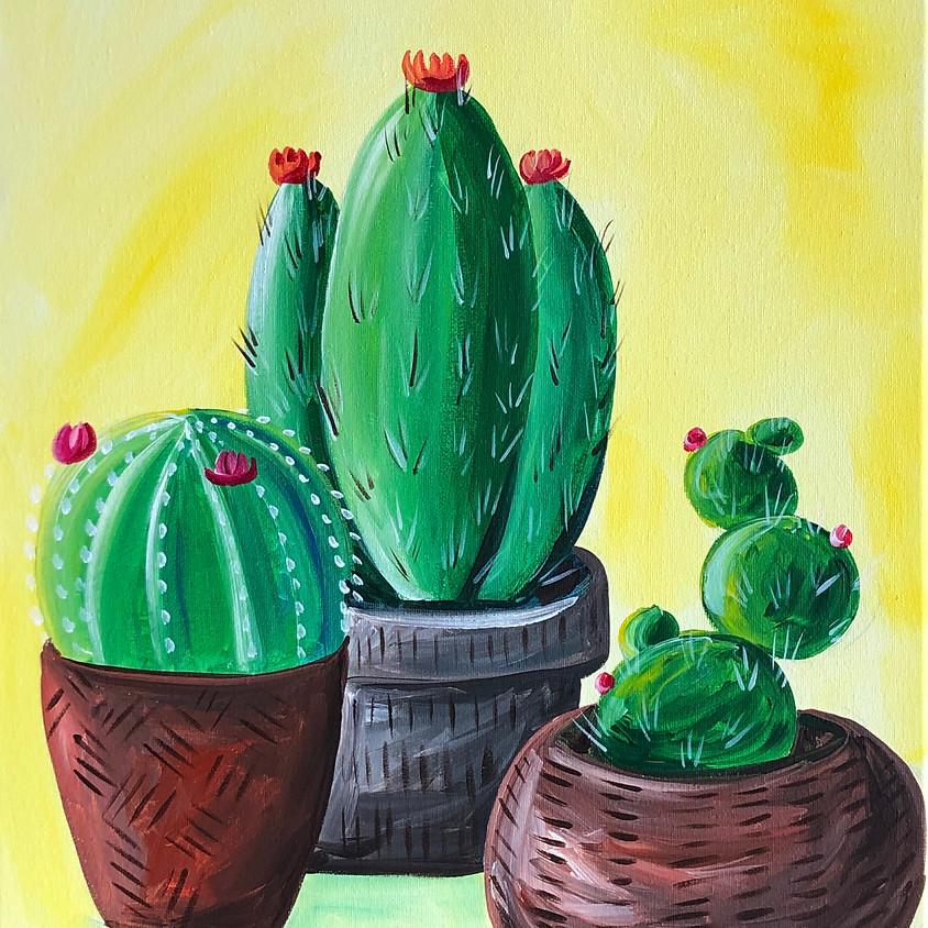 Happy Cacti - Paint & Sip