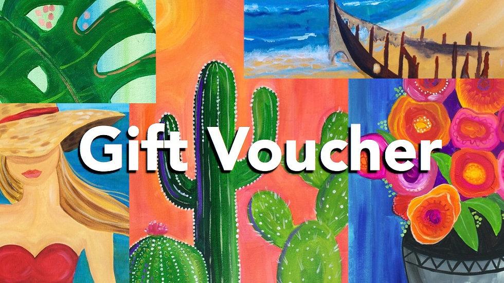 Paint & Sip Gift Voucher