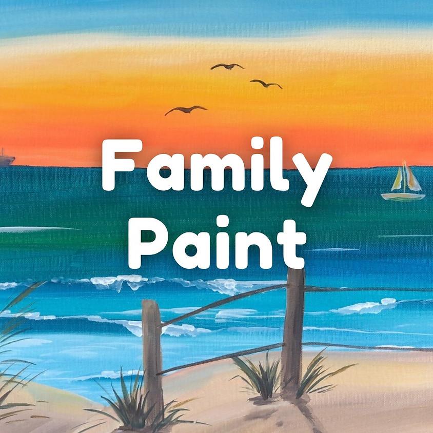 FAMILY PAINT - Beach Scene