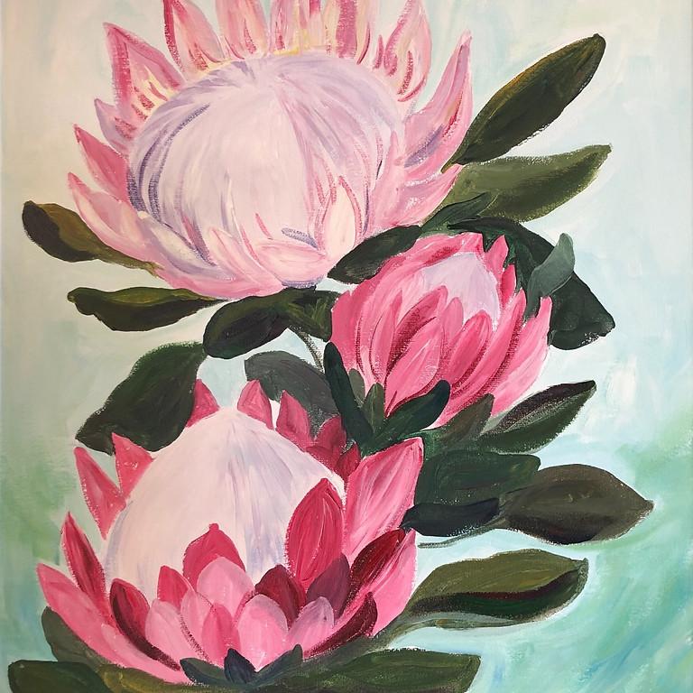 King Protea - Paint & Sip