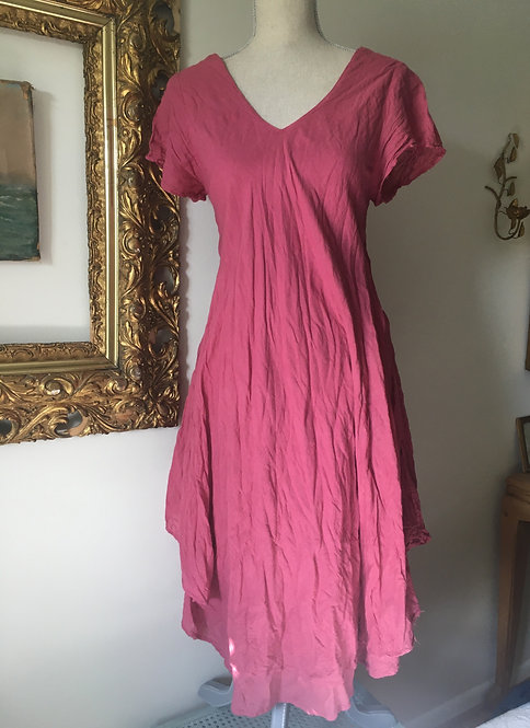 Short Sleeve 'V' Dress