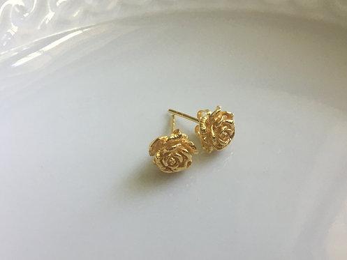 14 k gold vermeil Rosette stud earrings