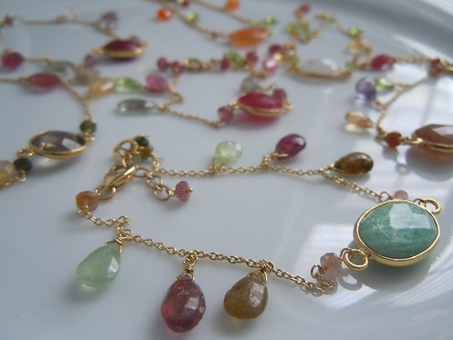 Faceted Gemstone Bezel Bracelets