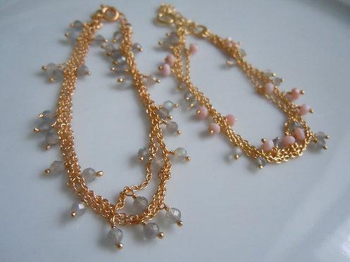 Sweet Multi-Strand Labradorite Bracelets