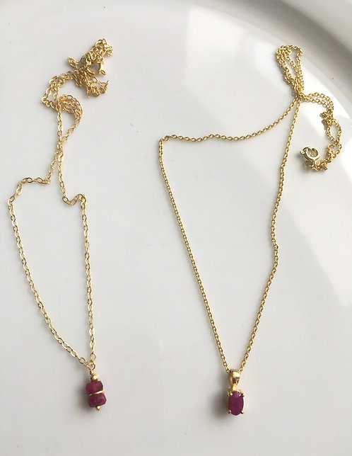 Ruby Pendant Necklaces
