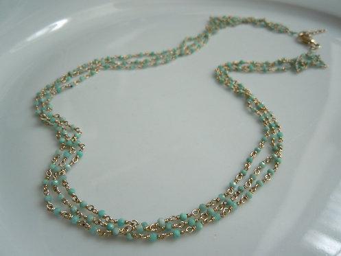 Delicate 3 Strand Amazonite Necklace