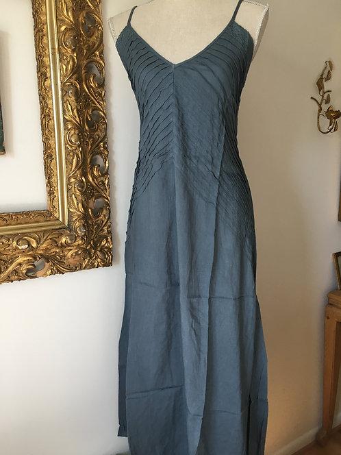 Angled Piping Long Dress