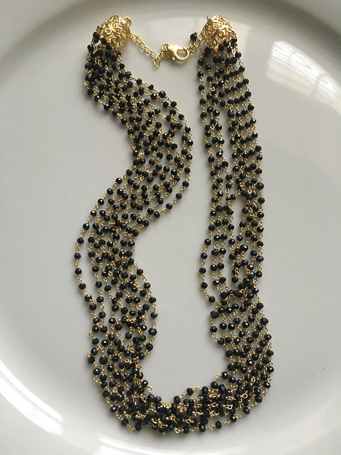 Beautiful 8 Line Spinel Necklace
