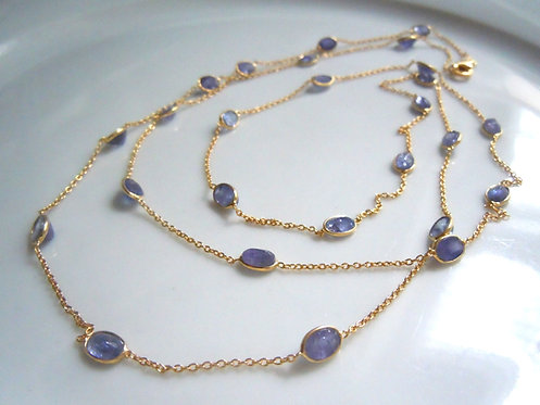 Tanzanite Long Necklace