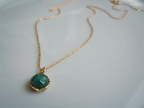 Emerald Pendant Necklace