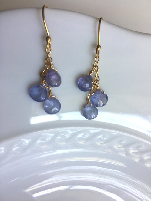 Iolite Medley Teardrop Earrings