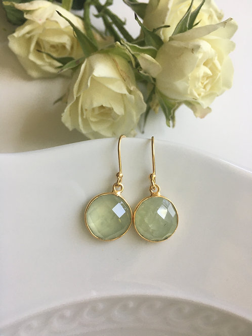 Prehnite Gemstone Earrings