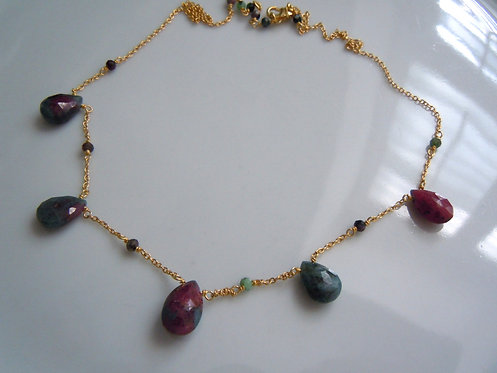 Faceted Zoisite Necklace