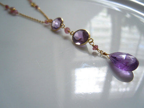 Amethyst and Tourmaline Necklace