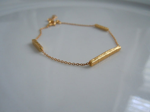 Triple Gold Bar Bracelet