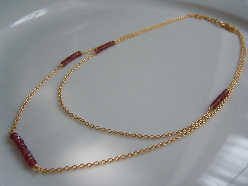 Garnet Double Layer Necklace