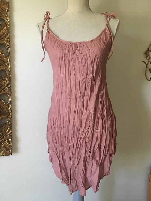 Short Slinky Tie Beach Dress / Overlay